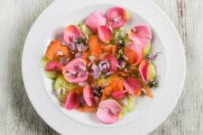 DIY edible flower salad