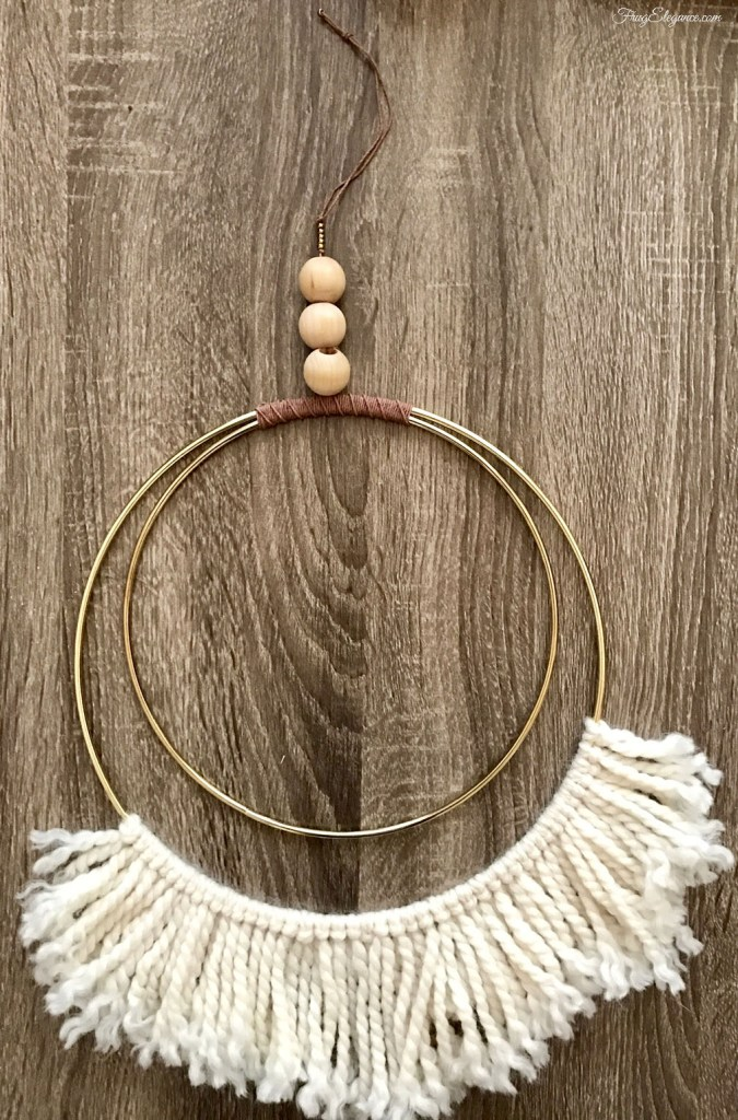 DIY fringe dream catcher