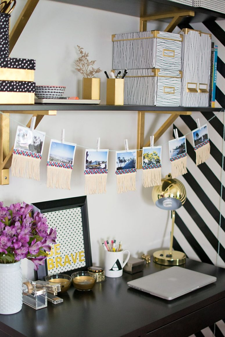 DIY photo fringe garland (via https:)