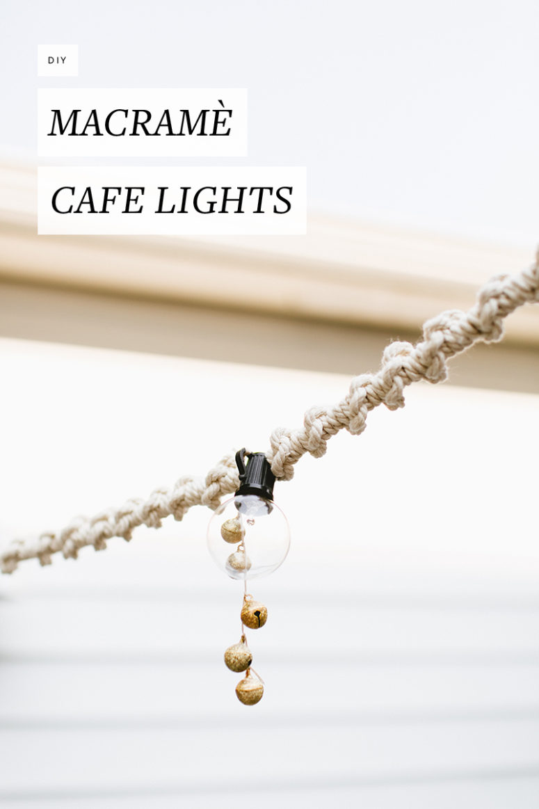 DIY macrame cafe lights (via jojotastic.com)