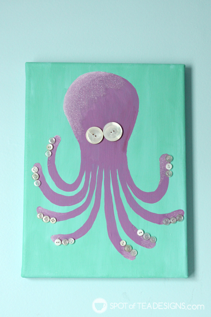DIY nursery octopus wall art (via spotofteadesigns.com)