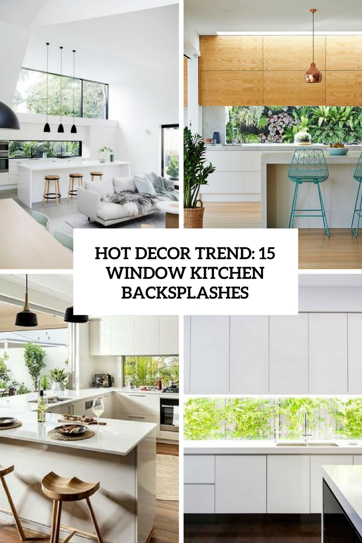Hot Decor Trend: 15 Window Kitchen Backsplashes - Shelterness