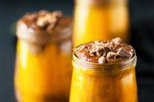 DIY healthy Halloween pumpkin chocolate potion