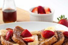 DIY syrup toast with powdered sugar