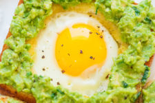 DIY egg-in-a-hole avocado toast