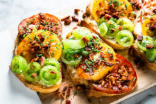 DIY heirloom tomato toast