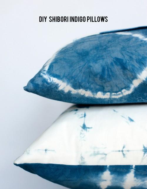 DIY shibori pillows (via www.shelterness.com)