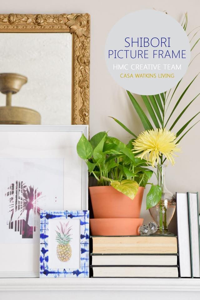 DIY shibori picture frame (via www.homemadebycarmona.com)