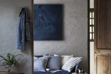 06 stucco walls look natural and textural, and wooden floors add coziness