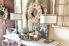 corn husk wreath for entryway's decor