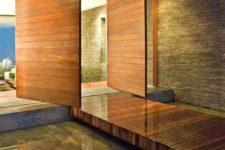 modern wood clad back door