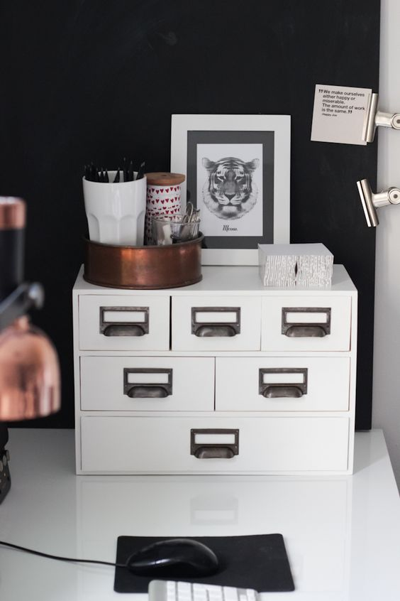 Ikea Moppe hack with vintage handles looks very chic