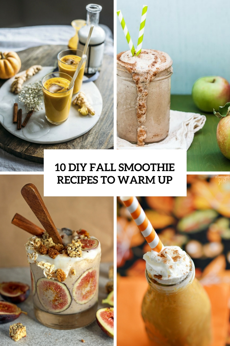 diy fall smoothie recipes to warm up cover