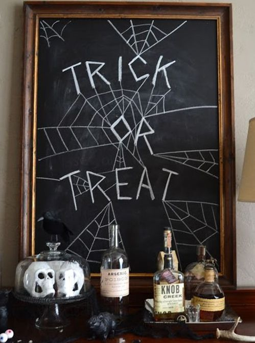 a chalkboard sign is a nice idea for decor or highlighting any zone of your party space