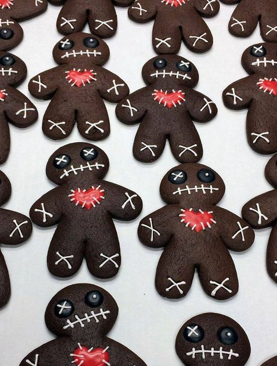 chocolate zombie cookies look stunning and cute, make some for your party