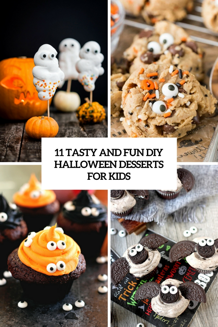 tasty and fun diy halloween desserts for kids cover