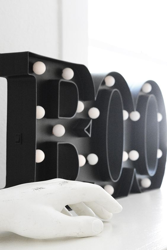 black marquee sign is a chic and fresh idea for Halloween