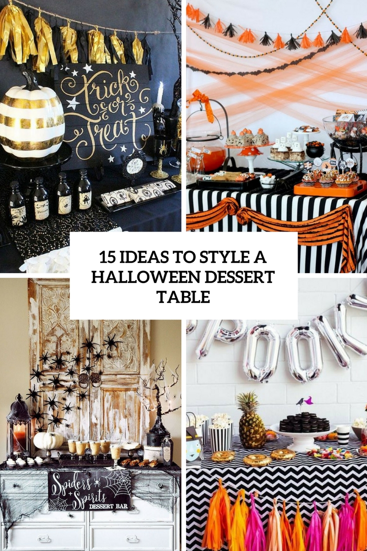 ideas to style a halloween dessert table cover