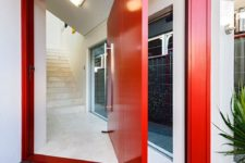 bold red front door design