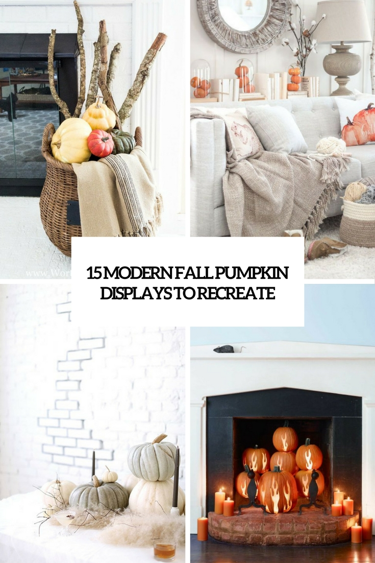 15 Modern Fall Pumpkin Displays To Recreate