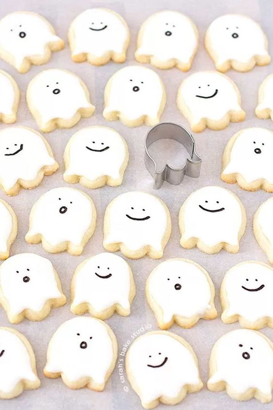 ghost cookies are easy to make and will fit any party   both an adult and a kd one