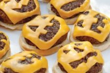 22 Halloween cheeseburgers will fit an adult and a kid party