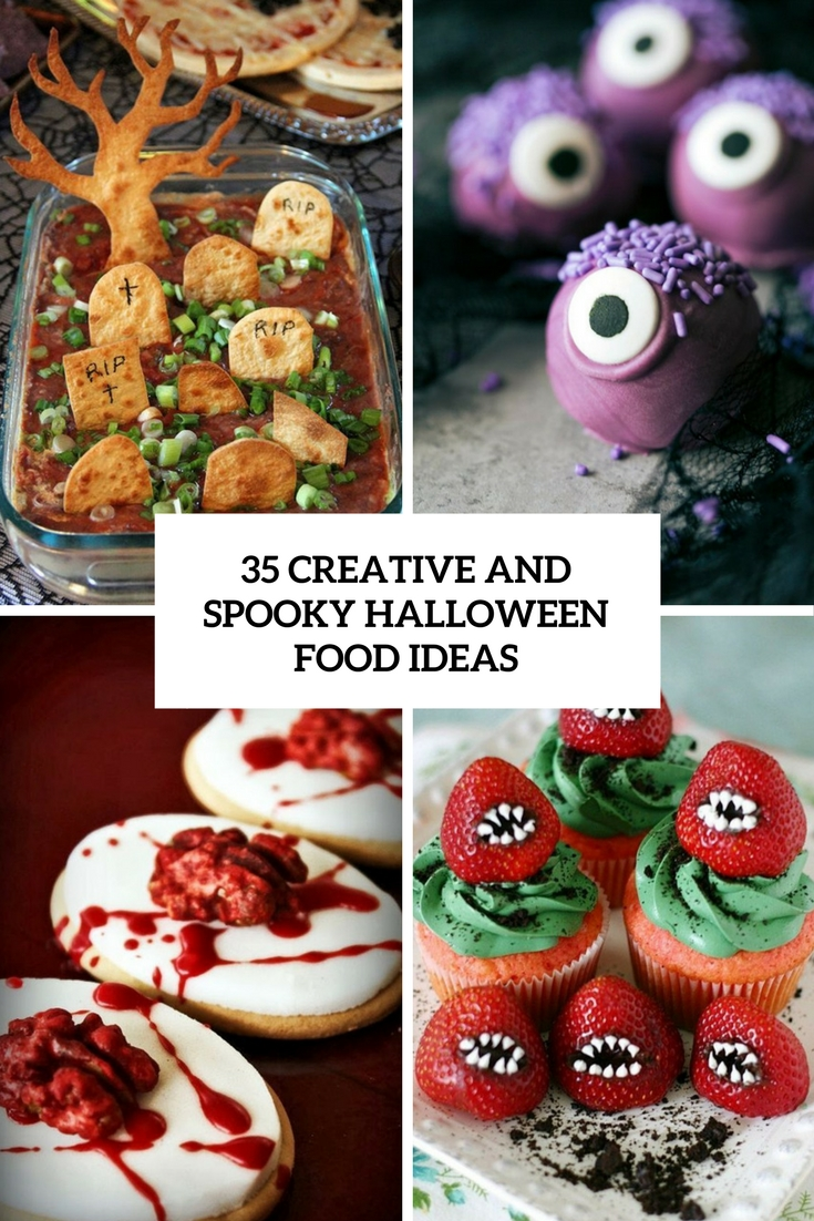 creative and spooky halloween food ideas cover
