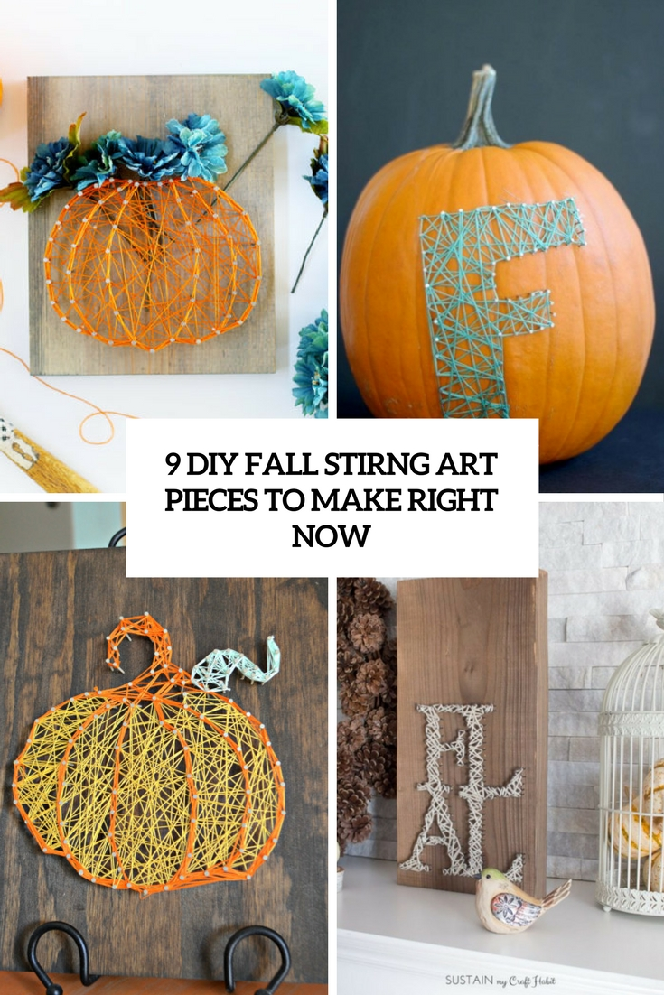 9 DIY Fall String Art Pieces To Make Right Now