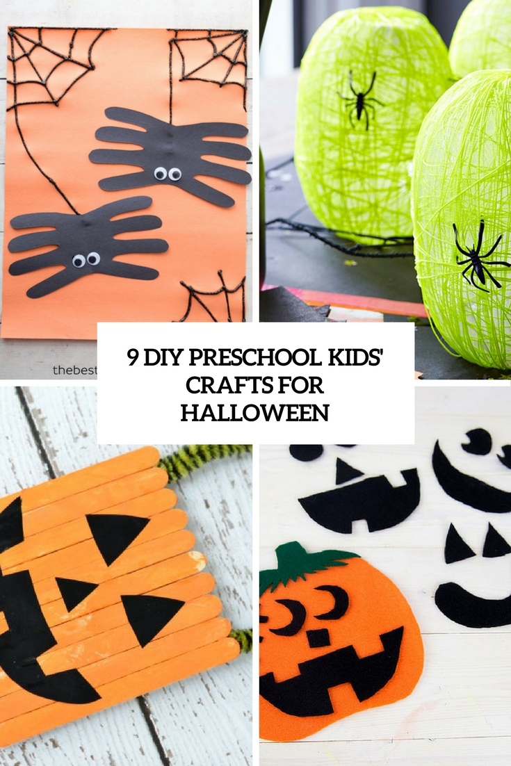 9 DIY Preschool Kids' Crafts For Halloween