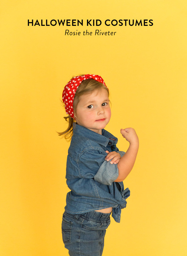 DIY Rosie The Riveter costume (via sayyes.com)