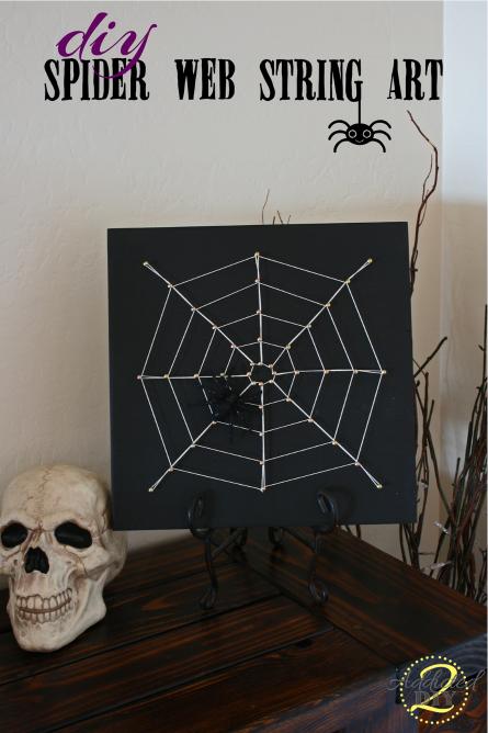 elegant DIY spider web string art