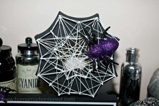 DIY Halloween spider web string art (via https:)