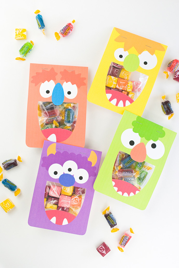 DIY silly monster treat bags (via www.handmadecharlotte.com)