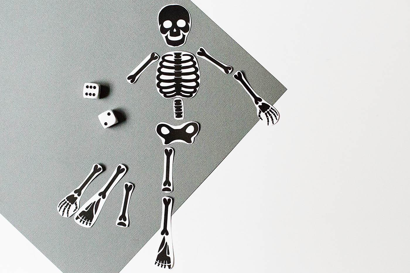 DIY free printable skeleton games