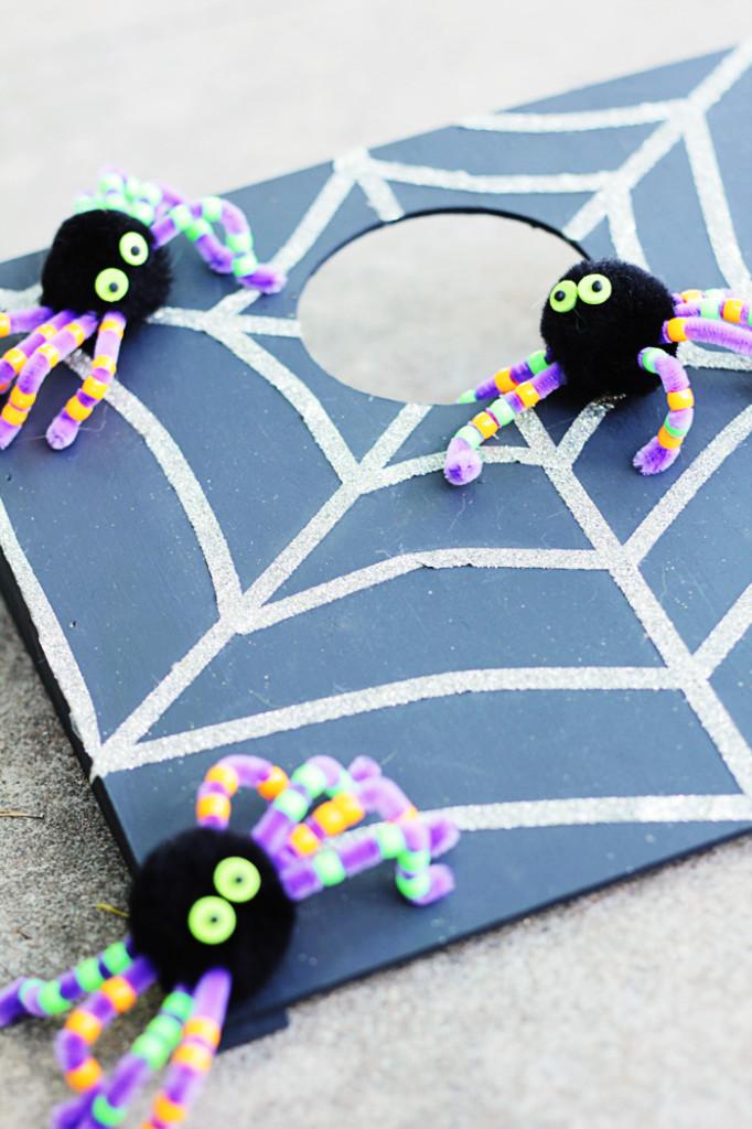 DIY cornhole Halloween game