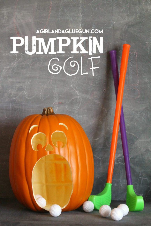 DIY pumpkin golf (via www.agirlandagluegun.com)