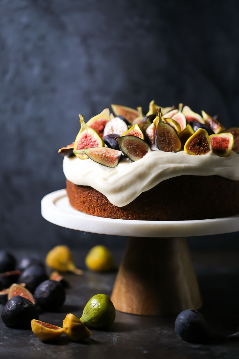DIY olive oil cake with mascarpone and figs