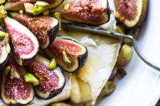 DIY baked brie with figs and honey