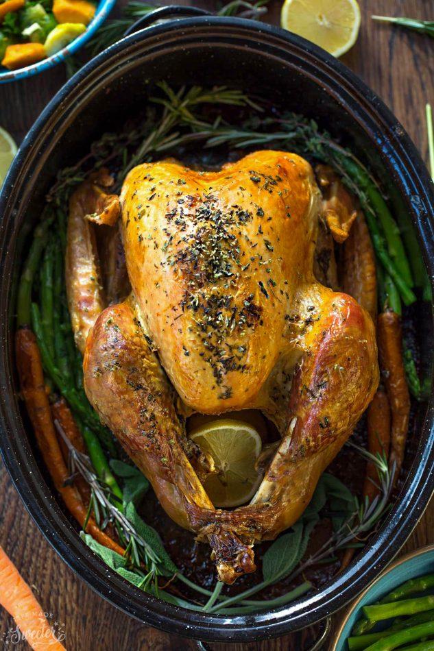 DIY garlic herb butter roast turkey (via https:)