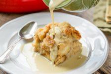 DIY apple bread pudding