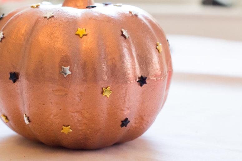 DIY star studded pumpkin (via aweekfromthursday.com)