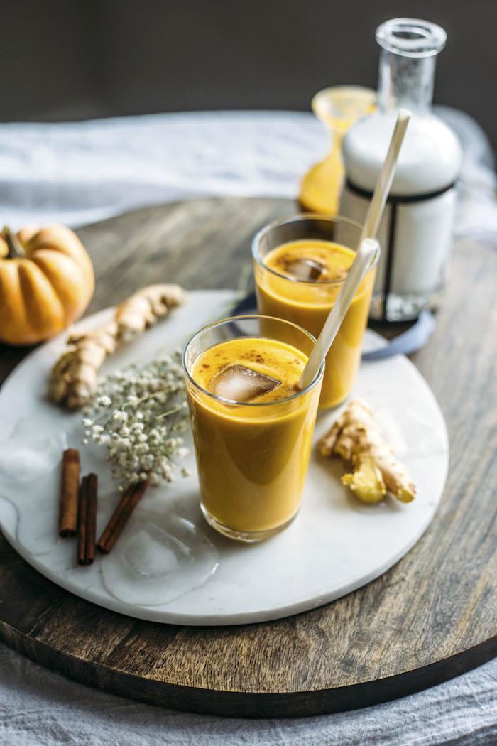 DIY ginger pumpkin smoothie (via https:)