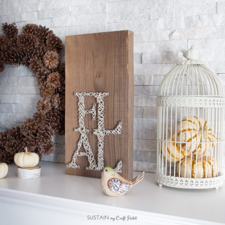 DIY rustic FALL string art sign (via https:)