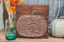 DIY neutral pumpkin art