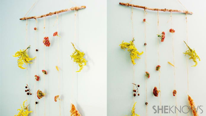 DIY dried flower hanging garland (via www.sheknows.com)