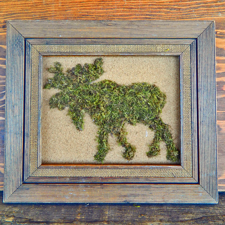 DIY moss animal silhouette (via https:)