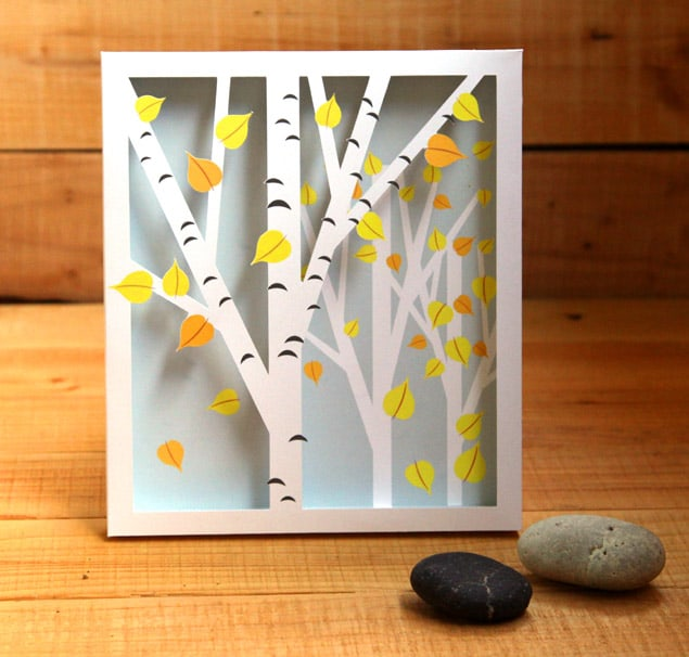 DIY 3D birch shadow box (via https:)