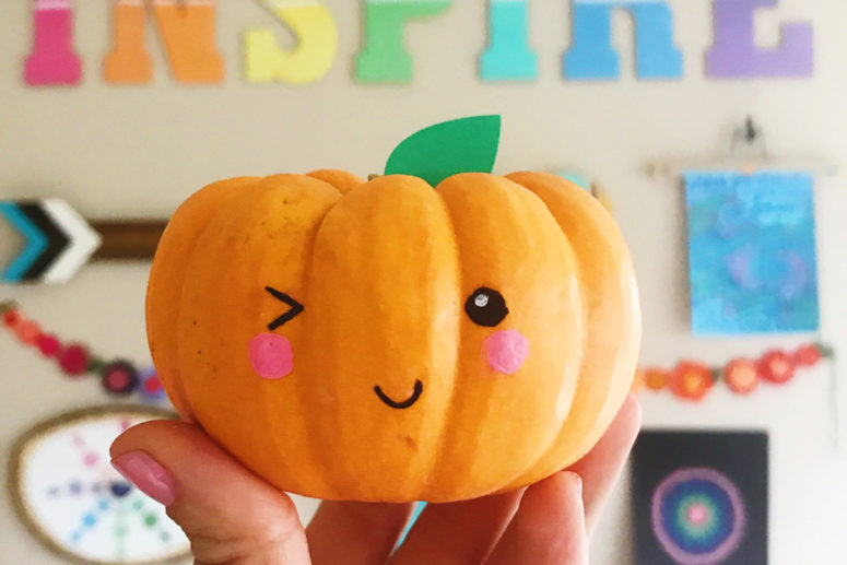 DIY no carve pumpkin painting (via https:)