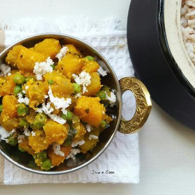 DIY pumpkin peas curry (via https:)