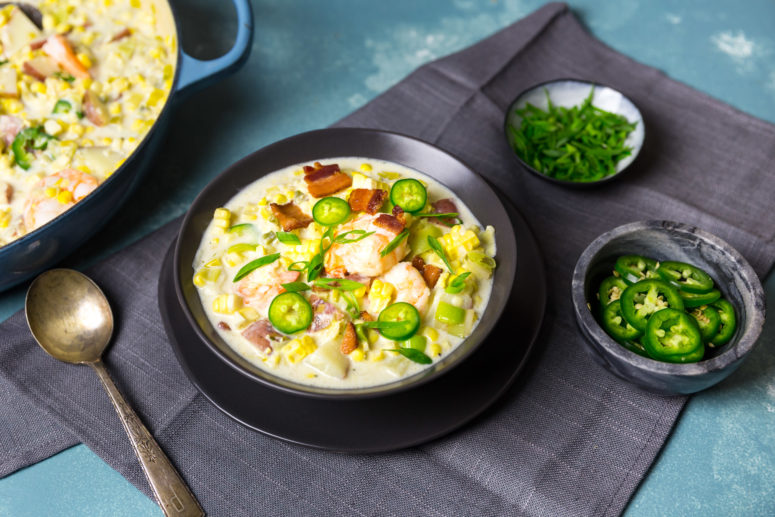 DIY corn shrimp chowder (via www.nerdswithknives.com)